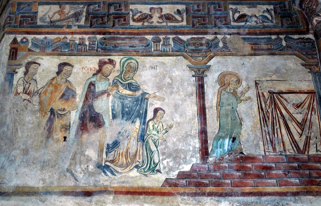13 Pouzauges-Fresque Eglise Notre Dame