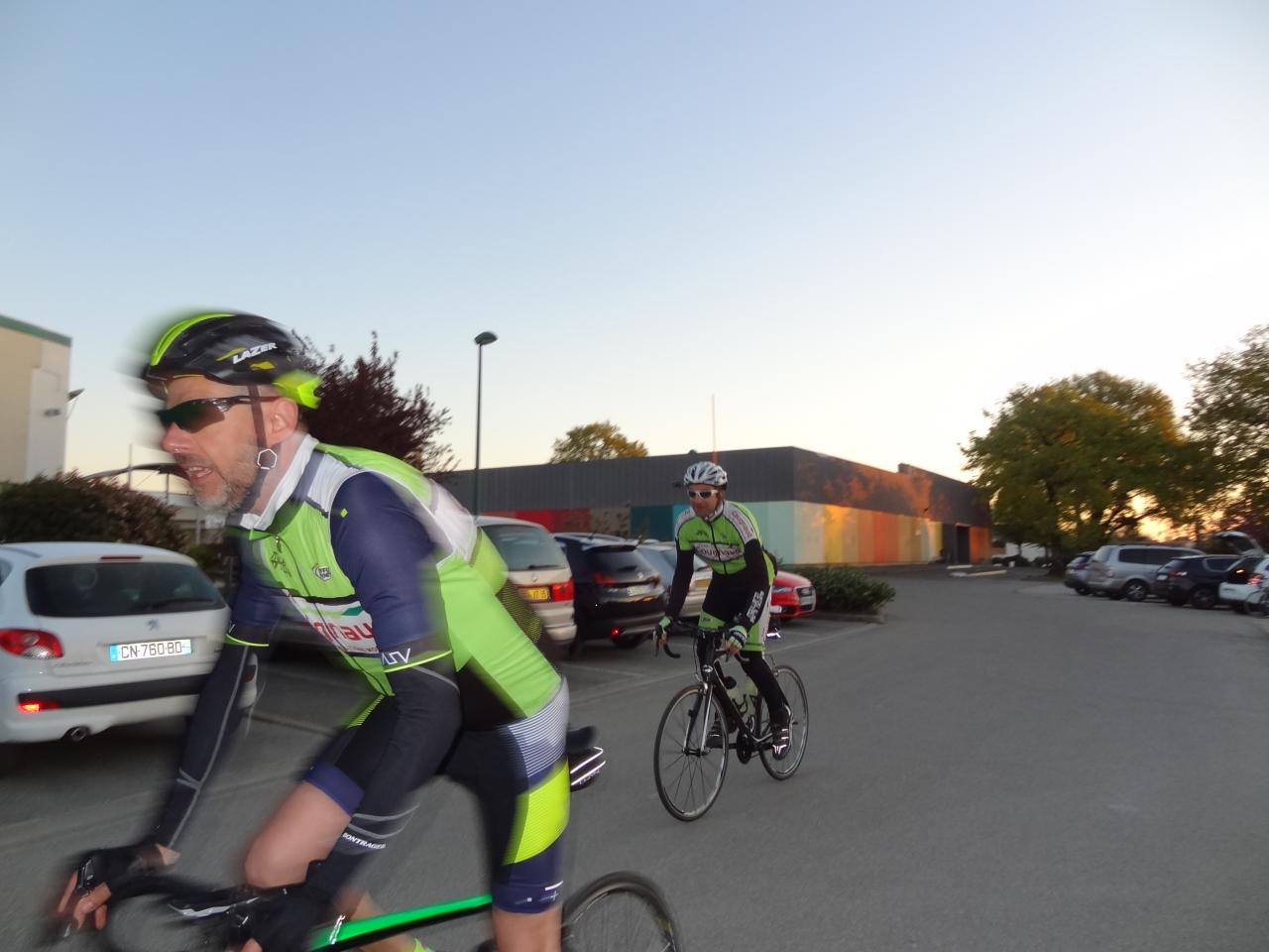 09.04.2017 Brevet 150 km - Lever du soleil.